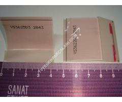 YS3625D3 , 2843 , TCON PANEL PCB ARASI LVDS FLEX KABLO