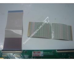 42PFL7606H panel T CON ARASI LVDS FLEX KABLO , AWM 20861